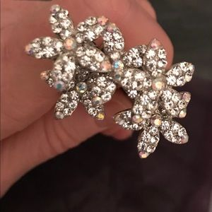 New Set of Crystal Flower Hairpins